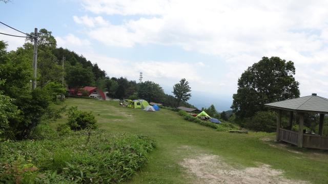 山頂のキャンプ場