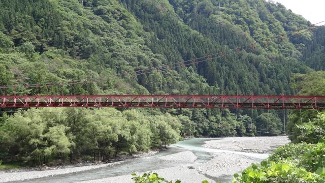 吊り橋渡ってみた。