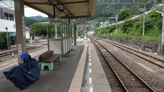 平岡駅から輪行