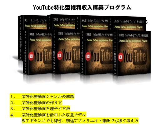 YouTube特化型権利収入構築プログラムの内容
