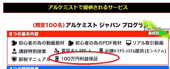 アルケミストジャパンプログラムのLP