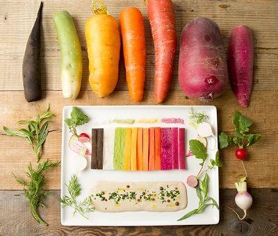 農園野菜のグラデーションスティック