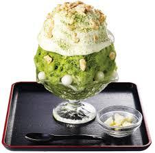 季節限定 チーズタルトかき氷-宇治抹茶