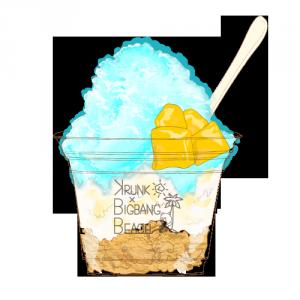 KRUNK BLUEマンゴー練乳氷