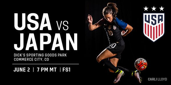 Tix for the #USWNTs match against Japan on 6_2 in Colorado go on sale at 10 am MT today