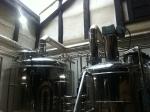 160708 京都町家麦酒醸造所 (2)麦汁ろ過槽・煮沸釜