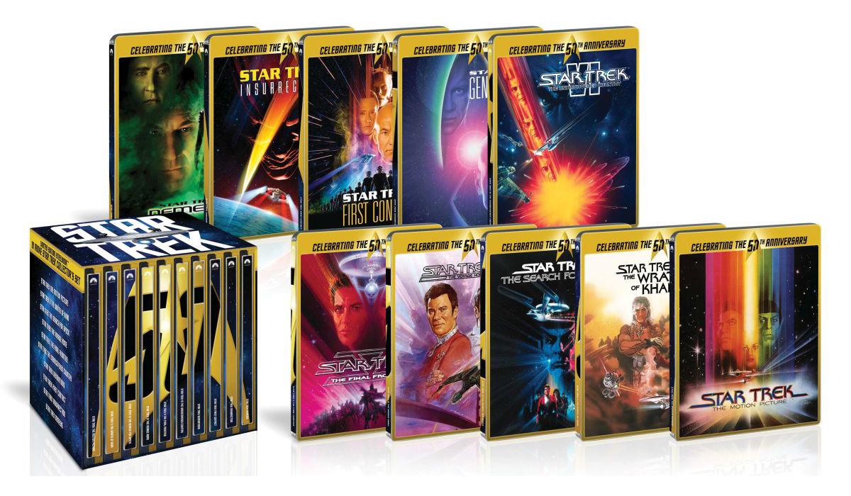 スター・トレック I-X 劇場版ブルーレイ50周年記念BOX スチールブック