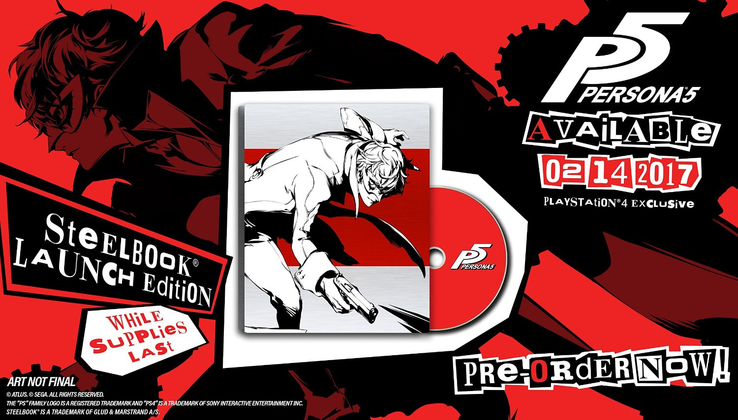 Persona 5 - SteelBook Edition - PlayStation 4