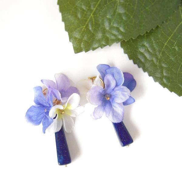 紫陽花イヤリング・ピアス