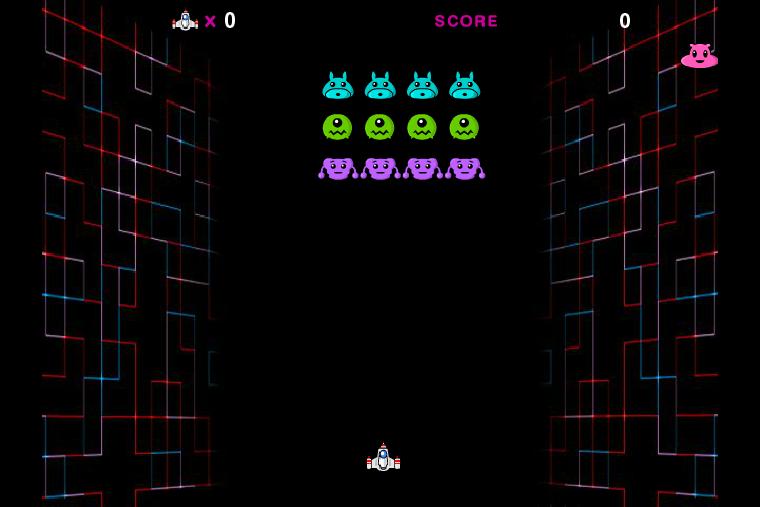 gaingame ラッキーゲームタウン スペースファイター プレイ画面
