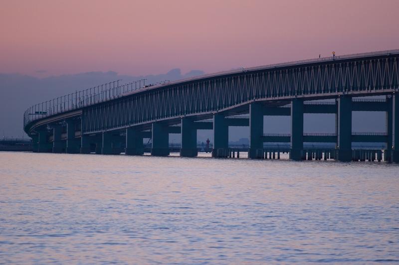 りんくう公園 夕景 関空連絡橋