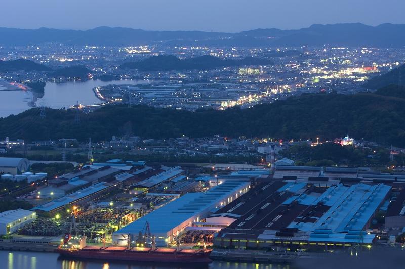 海南 工場夜景 和歌山石油精製 地蔵峰寺