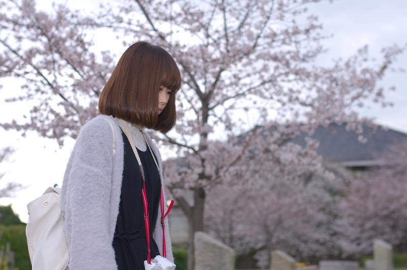 叡福寺の桜とポートレート
