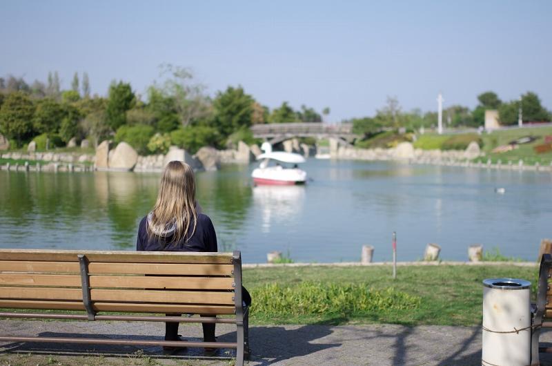 明石海峡公園 池 スワンボート