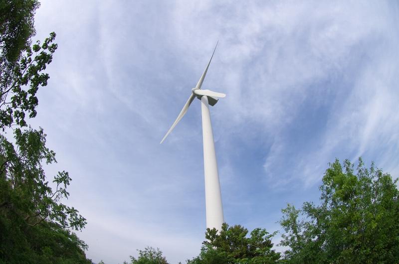 広川町風力発電所の風車