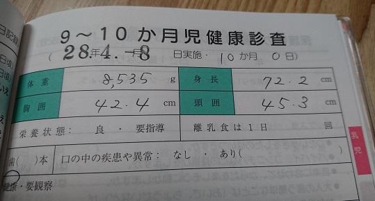 9〜10か月児健康診査