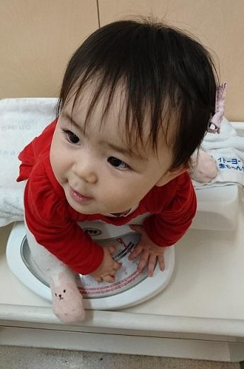 生後11か月 体重測定3