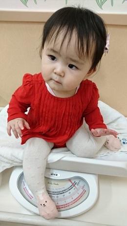 生後11か月 体重測定2