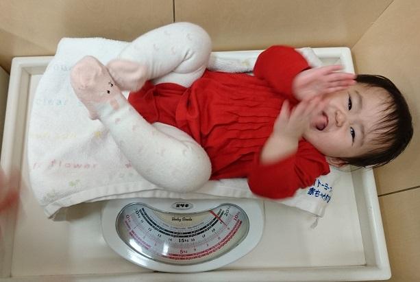 生後11か月 体重測定1