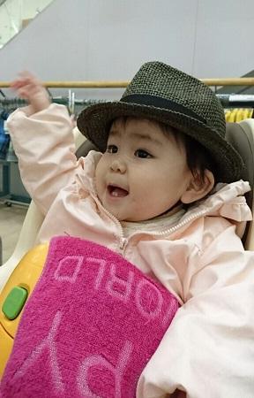 帽子の試着1