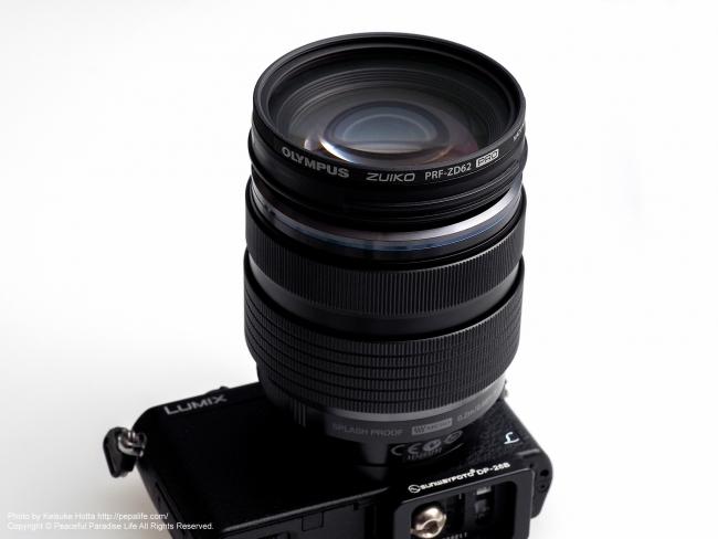 OLYMPUS ZUIKO PRF-ZD62 PRO をM.ZUIKO DIGITAL ED 12-40mm F2.8 PRO + GM1に装着