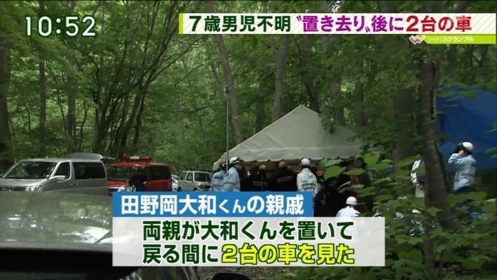 ⑦田野岡大和君の親戚 両親が大和くんを置いて戻る間に2台の車を見た