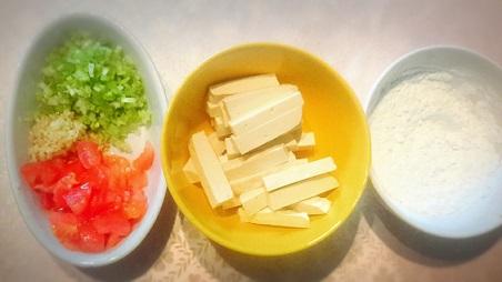 揚げ豆腐のチリソース②