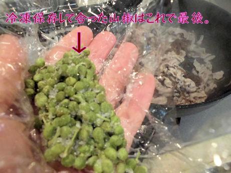 冷凍保存山椒