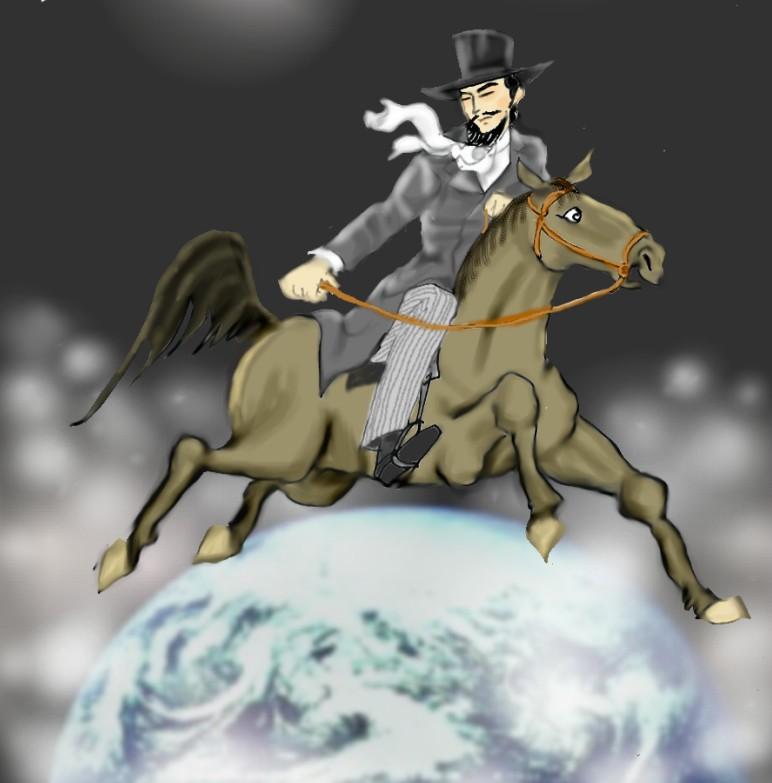 文明開化の騎馬紳士