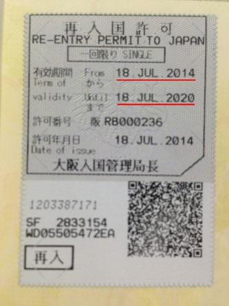 再入国許可2014