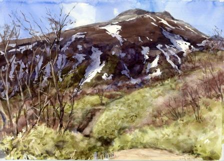 茶臼山 の残雪