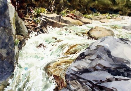 箒川の渓流