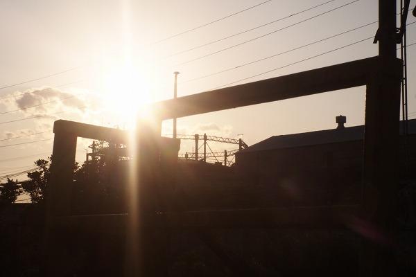 夕暮れの扇町駅☆鶴見線