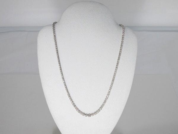 K18WG ダイヤモンド2ct テニス ネックレス