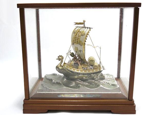 銀製 宝船 ケース付き