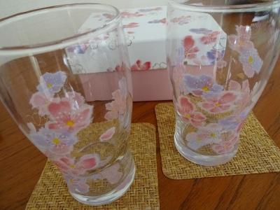 桜のグラス②