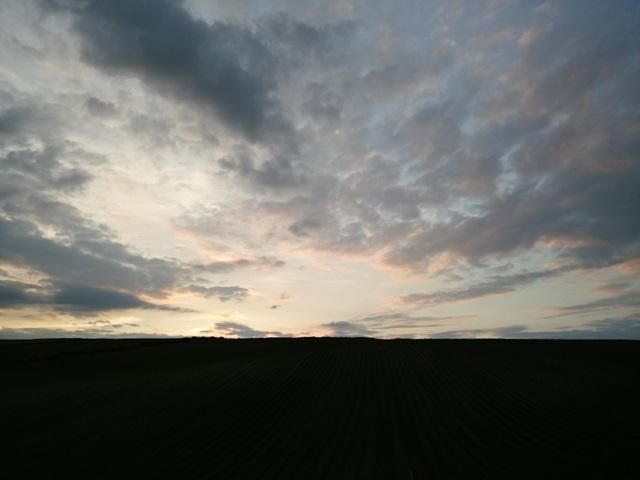 夕暮 美瑛の丘