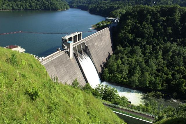 ダム展望台 景観