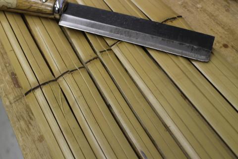 真竹の竹割り