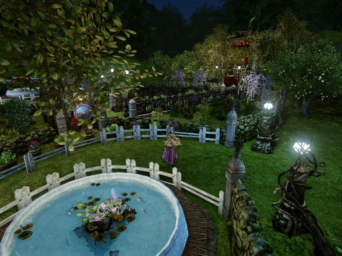 夜の庭園1