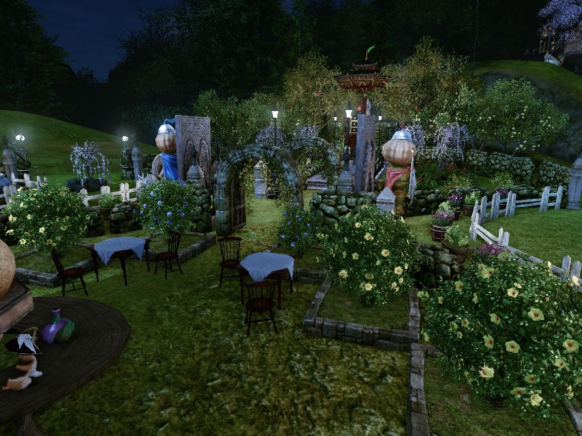 夜の庭園2