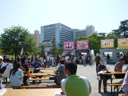 肉フェス:富士天然氷かき氷・抹茶2