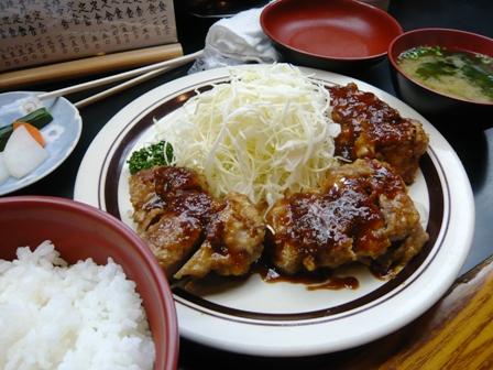 五郎十:ヒレ生姜焼き