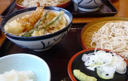 てんや:小天丼&小そばセット
