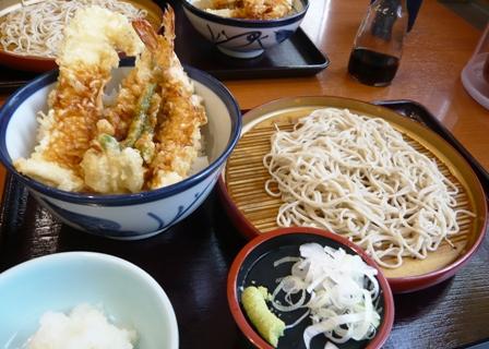 てんや:大海老穴子天丼&小そばセット