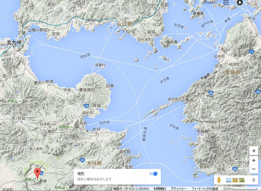 阿蘇山の火砕流は、海を渡り山口県まで届いていた