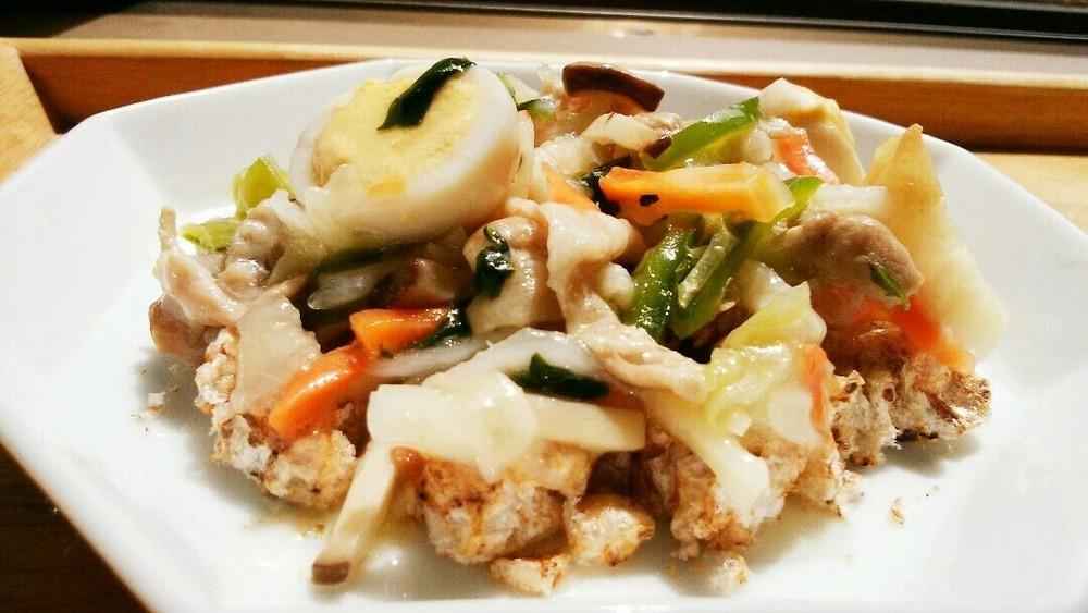 おこげ風野菜の中華あんかけの作り方5