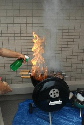 20160605シュハスコ炎上