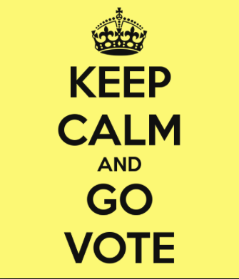Keep calm and go vote
