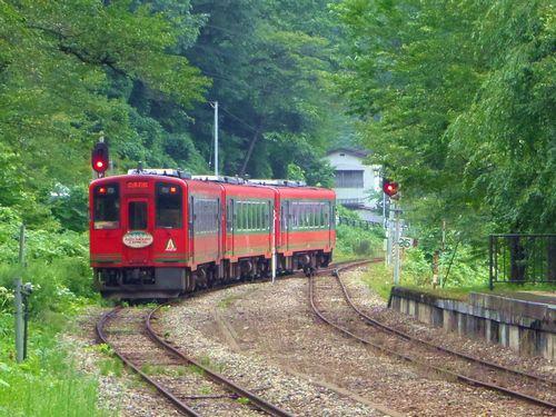 湯野上温泉駅2014_11AT-750形快速AIZUマウントエクスプレス